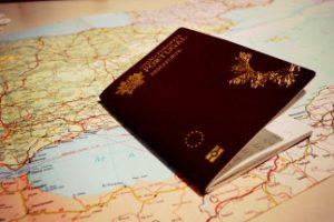 Passaporte com espaço para carimbar