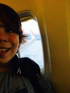A primeira vez de avião